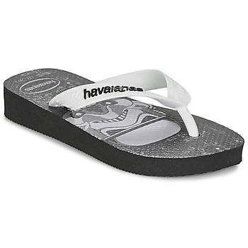 Sapatos Rapaz Chinelos Havaianas STAR WARS Preto / Branco
