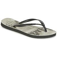 Sapatos Mulher Chinelos Havaianas SLIM PHOTOPRINT Preto / Cinza