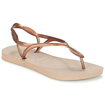Sapatos Mulher Chinelos Havaianas LUNA Bronze