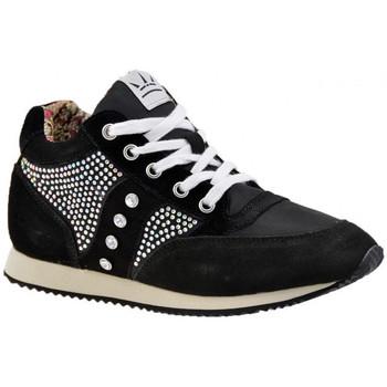 Sapatos Mulher Sapatilhas de cano-alto F. Milano  Preto
