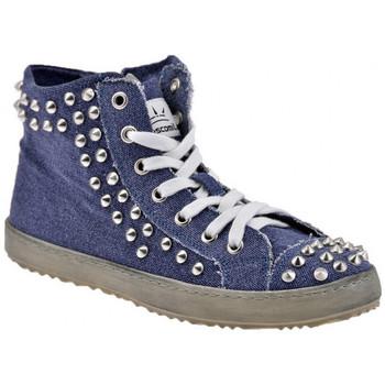 Sapatos Mulher Sapatilhas de cano-alto F. Milano  Azul