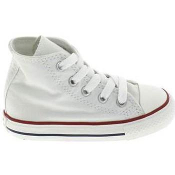 Sapatos Criança Pantufas bebé Converse All Star Hi BB Blanc Branco