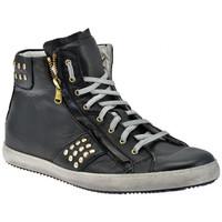 Sapatos Homem Sapatilhas de cano-alto Exton  Preto
