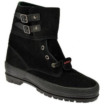 Sapatos Mulher Botas baixas Superga  Preto