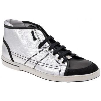 Sapatos Homem Sapatilhas de cano-alto OXS  Prata