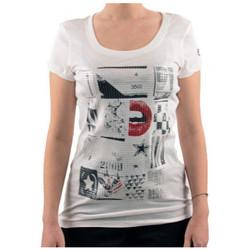Textil Mulher T-Shirt mangas curtas Converse  Branco