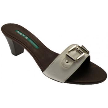 Sapatos Mulher Chinelos Keys  Branco
