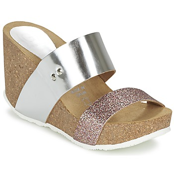Sapatos Mulher Chinelos Ganadora FLORA Prateado
