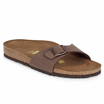 Sapatos Mulher Chinelos Birkenstock MADRID Castanho
