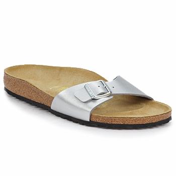 Sapatos Mulher Chinelos Birkenstock MADRID Prateado