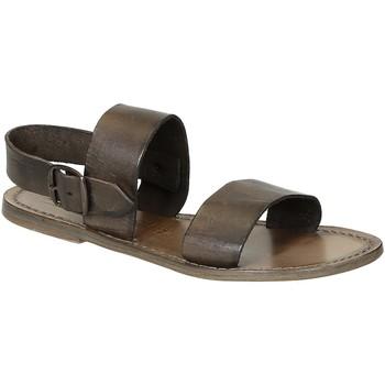 Sapatos Mulher Sandálias Gianluca - L'artigiano Del Cuoio 500 D FANGO CUOIO Fango