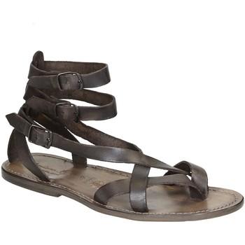 Sapatos Mulher Sandálias Gianluca - L'artigiano Del Cuoio 564 U FANGO CUOIO Fango