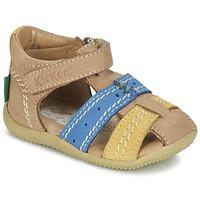 Sapatos Rapaz Sandálias Kickers BIGBAZAR Bege / Azul / Amarelo