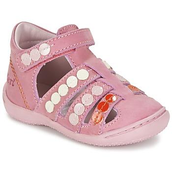 Sapatos Rapariga Sandálias Kickers GIFT Rosa