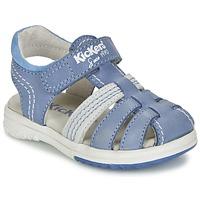 Sapatos Rapaz Sandálias Kickers PLATINIUM Azul