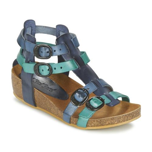Sapatos Rapariga Sandálias Kickers BOMDIA Azul