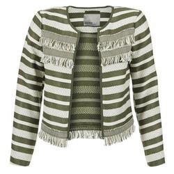 Textil Mulher Casacos/Blazers Vero Moda FRILL Cáqui / Cru