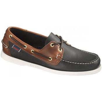 Sapatos Homem Sapato de vela Sebago Bateau  Spinnaker Leather Preto