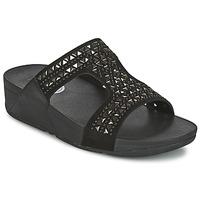 Sapatos Mulher Chinelos FitFlop CARMEL SLIDE Preto