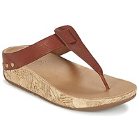 Sapatos Mulher Chinelos FitFlop IBIZA CORK Castanho