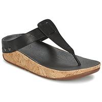 Sapatos Mulher Chinelos FitFlop IBIZA CORK Preto