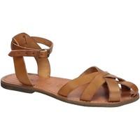Sapatos Mulher Sandálias Gianluca - L'artigiano Del Cuoio 503 D CUOIO GOMMA Cuoio