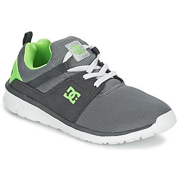 Sapatos Rapaz Sapatilhas DC Shoes HEATHROW Cinza / Branco / Verde