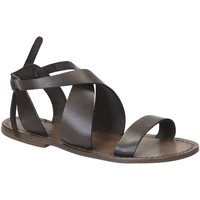 Sapatos Mulher Sandálias Gianluca - L'artigiano Del Cuoio 570 D FANGO CUOIO Fango