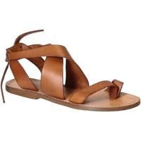 Sapatos Mulher Sandálias Gianluca - L'artigiano Del Cuoio 571 D CUOIO CUOIO Cuoio