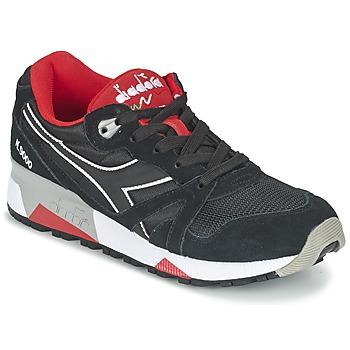 Sapatos Sapatilhas Diadora N9000 NYLON II Preto / Vermelho