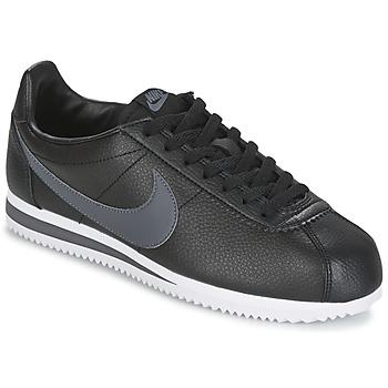 Sapatos Homem Sapatilhas Nike CLASSIC CORTEZ LEATHER Preto / Cinza