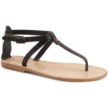 Sapatos Mulher Sandálias Gianluca - L'artigiano Del Cuoio 582 D NERO LGT-CUOIO nero