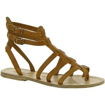 Sapatos Mulher Sandálias Gianluca - L'artigiano Del Cuoio 506 D CUOIO LGT-CUOIO Cuoio