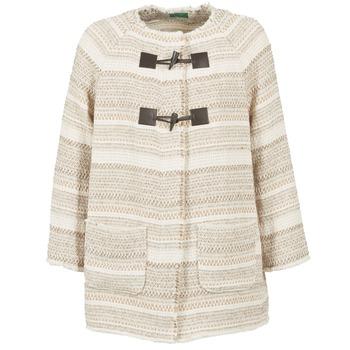 Textil Mulher Casacos Benetton LUMO Bege