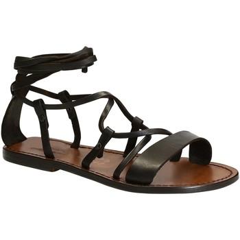 Sapatos Mulher Sandálias Gianluca - L'artigiano Del Cuoio 519 D MORO CUOIO Testa di Moro