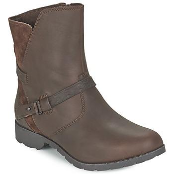 Sapatos Mulher Botas baixas Teva DELAVINA LOW Castanho