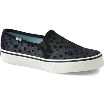 Sapatos Mulher Slip on Keds Decker Velvet Star Preto