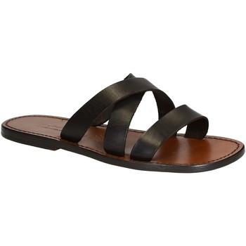 Sapatos Homem Chinelos Gianluca - L'artigiano Del Cuoio 546 U MORO CUOIO Testa di Moro