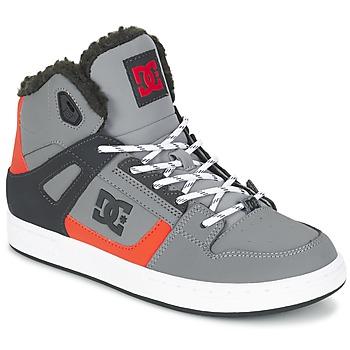 Sapatos Criança Sapatilhas de cano-alto DC Shoes REBOUND WNT B SHOE XSKN Cinza / Preto / Laranja