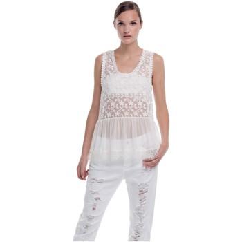 Textil Mulher Tops sem mangas Kocca Top Kanado Branco