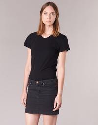Textil Mulher T-Shirt mangas curtas BOTD EFLOMU Preto