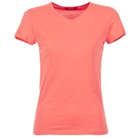 Textil Mulher T-Shirt mangas curtas BOTD EFLOMU Coral