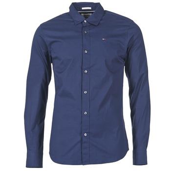 Textil Homem Camisas mangas comprida Tommy Jeans KANTERMI Marinho