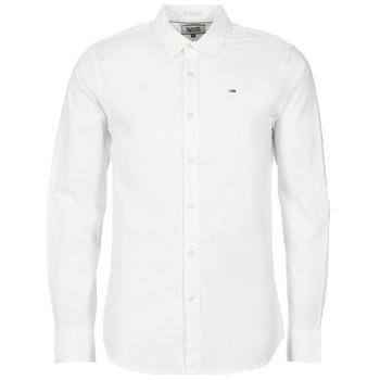Textil Homem Camisas mangas comprida Tommy Jeans KANTERMI Branco