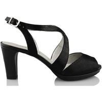 Sapatos Mulher Escarpim Montesinos CAVIAR NEGRO