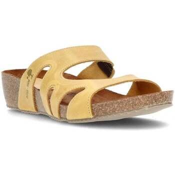 Sapatos Mulher Chinelos Interbios W MOSTAZA