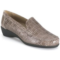 Sapatos Mulher Mocassins Calzamedi TAUPE ORTOPEDICO MOCASIN MARRON