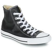 Sapatos Sapatilhas de cano-alto Converse Chuck Taylor All Star CORE LEATHER HI Preto