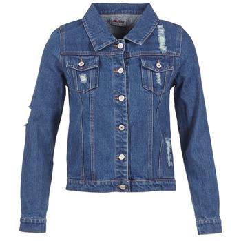 Textil Mulher casacos de ganga Yurban ESPINALE Azul / Escuro