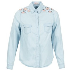 Textil Mulher camisas Yurban EGUATOULE Azul / Claro